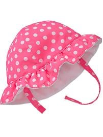Polka-Dot Swim Hats for Baby