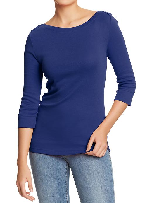 Old Navy Womens 3 4 Sleeve Boat Neck Tops Shop Your Way