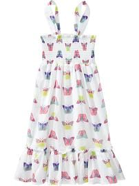 Girls Smocked Printed Sundresses