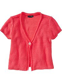 Girls Metallic Cardi Shrugs