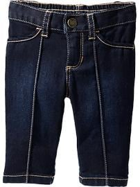 Embroidered-Pocket Denim Capris for Baby
