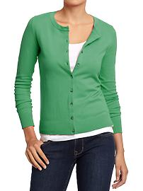 Women's Button-Front Stretch Cardis