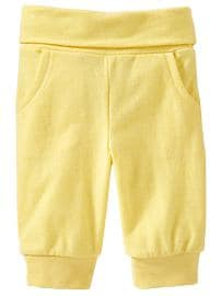 Fold-Over Terry Pants for Baby