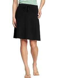 Women's Drawstring Jersey-Midi Skirts