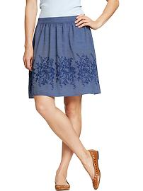 Women's Embroidered Sateen Skirts