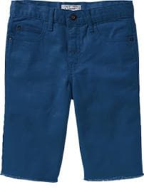 Boys Pop-Color Raw-Edge Denim Shorts