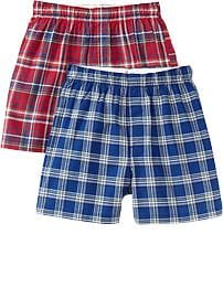 Boys Plaid Boxer 2-Packs