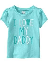 """I Love My Daddy"" Tees for Baby"