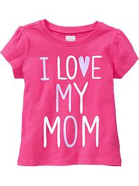 """I ♥ My Mom"" Tees for Baby"