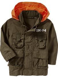 Military-Style Hooded Jackets for Baby