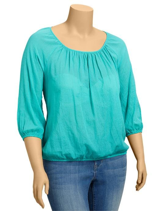Old Navy Womens Plus Shirred Gauze Tops plus size,  plus size fashion plus size appare