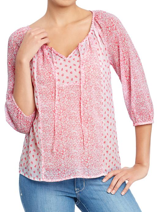 Old Navy Womens Mixed Print Gauze Tops plus size,  plus size fashion plus size appare