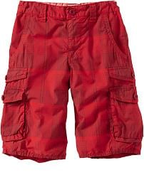 Boys Patterned Double Pocket Cargo Shorts