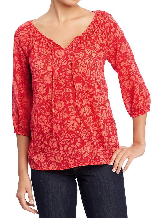 Old Navy Womens Floral Gauze Tops plus size,  plus size fashion plus size appare