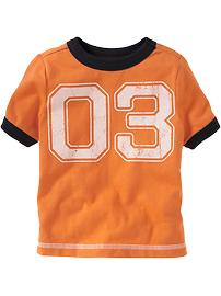 Team-Style Number Tees for Baby