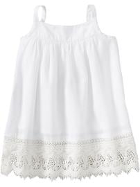 Laced-Hem Tank Dresses for Baby