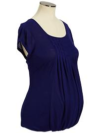 Maternity Pleated Jersey Tops