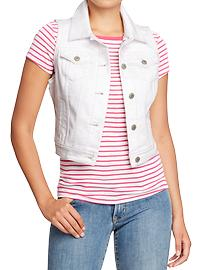 Women's Cut-Off Denim Vests