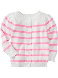 Striped Button-Front Cardis for Baby