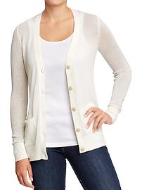 Women's Textured Open-Knit Cardis