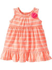 Striped Jersey Bubble Dresses for Baby