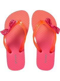 Girls Bow-Tie Flip-Flops