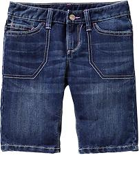 Girls Denim Bermudas