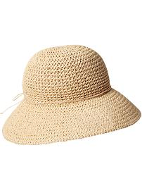 Women's Crochet-Straw Sun Hats