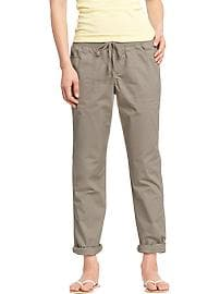Women's Twill Roll-Up Capris