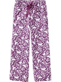 Women's Printed Poplin PJ Pants