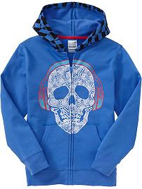 Boys Skull-Graphic Hoodies