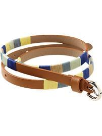 Women's Multi-Color Skinny Belts