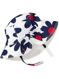 Floral Bow-Tie Sun Hats for Baby