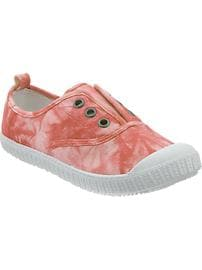 Girls Tie-Dye Laceless Sneakers
