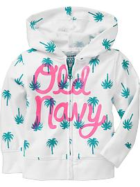 Printed Terry Hoodies for Baby