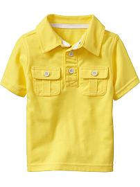 Double-Pocket Jersey Polos for Baby