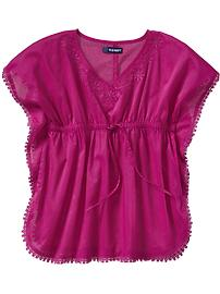 Girls Crochet-Lace-Trim Tunics