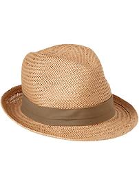 Men's Contrast-Trim Fedoras