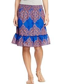 Women's Printed-Tiered Skirts