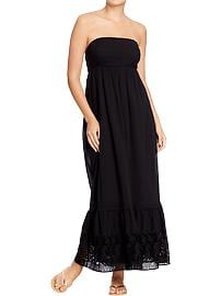Women's Tube-Eyelet Maxi Dresses