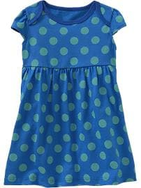Printed Flutter-Sleeve Jersey Dresses for Baby