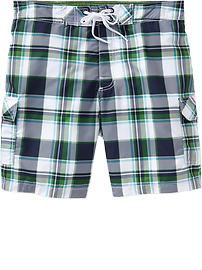 Men's Plaid Hybrid Board Shorts