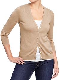 Women's Rib-Knit 3/4-Sleeve Cardis