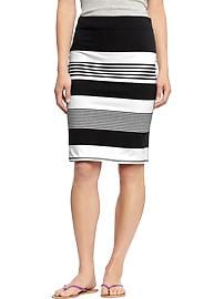 Women's Striped Pencil Skirts