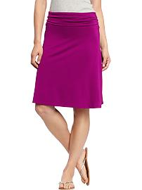 Women's Fold-Over Jersey Skirts