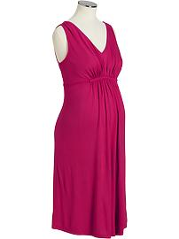 Maternity Gathered-Front Jersey Dresses
