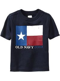 Texas-Flag Graphic Tees for Baby