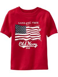 Flag Graphic Tees for Baby