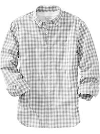 Men's Slim-Fit Gingham Shirts