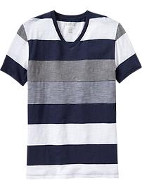 Men's Mixed-Stripe Vintage Tees